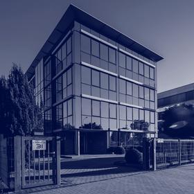 Außensicht auf das Gebäude der INSIGMA in der Europaallee 31, Frechen